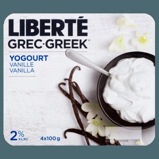 Picture of Greek Yogurt - Vanilla - 4 x 100 g