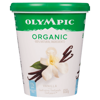 Picture of Organic Yogurt - Vanilla 0% Milk Fat - 650 g