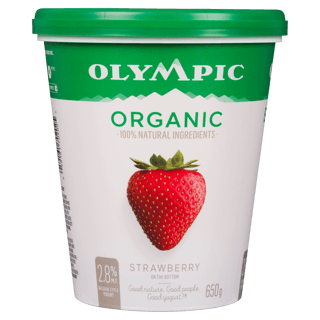 Picture of Organic Yogurt - Strawberry - 650 g