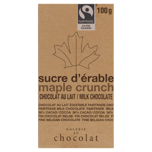 Picture of Chocolate Bar - Maple Crunch - 100 g