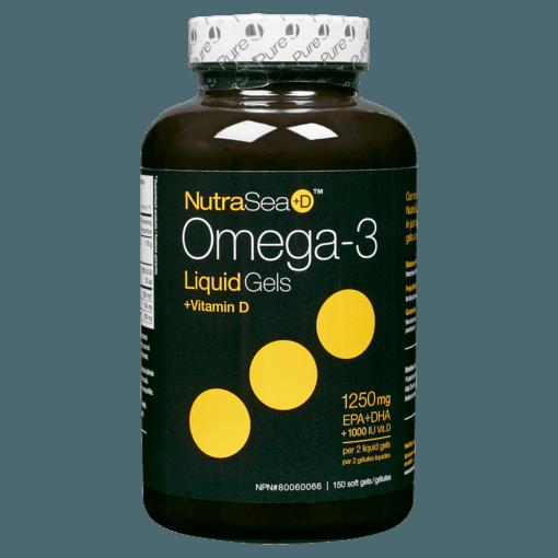 Picture of Omega-3 - Mint 1,000 IU Vit D, 1,250 mg EPA + DHA - 150 soft gels