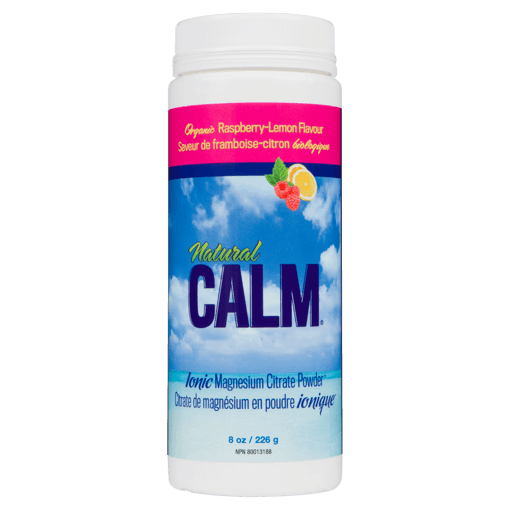 Picture of Natural Calm Magnesium Citrate Powder - Raspberry Lemon - 226 g