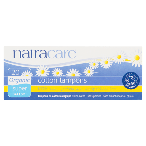 Picture of Cotton Tampons - Super - 20 count