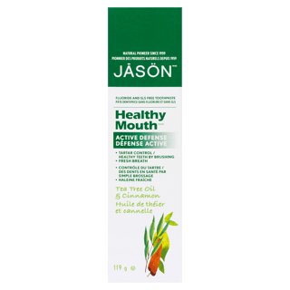 Picture of Healthy Mouth Active Defense Toothpaste - Tea Tree Oil & Cinnamon - 119 g
