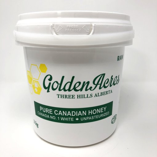 Picture of Pure Canadian Honey Canada No.1 White Unpasturized Raw - 3 kg
