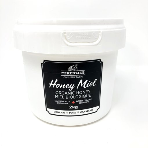 Picture of Organic Honey Canada No.1 White Unpasturized Creamed - 2 kg