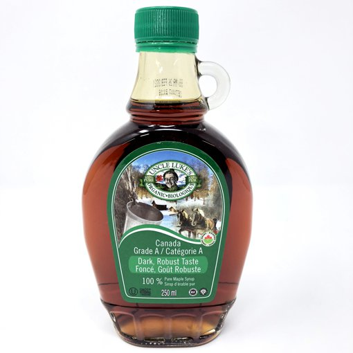 Picture of Organic Maple Syrup Grade A Dark Robust Taste