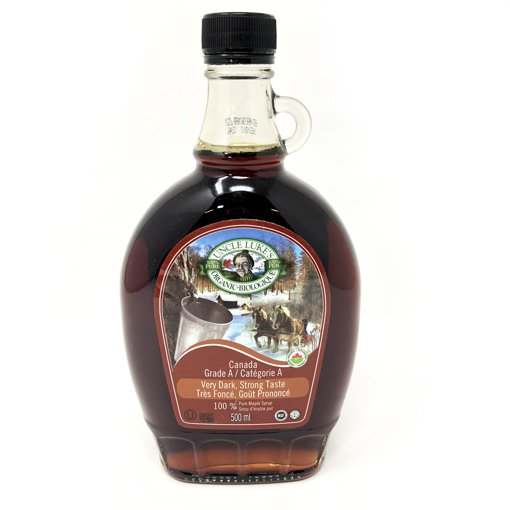 Picture of Organic Maple Syrup Grade A Very Dark Strong Taste