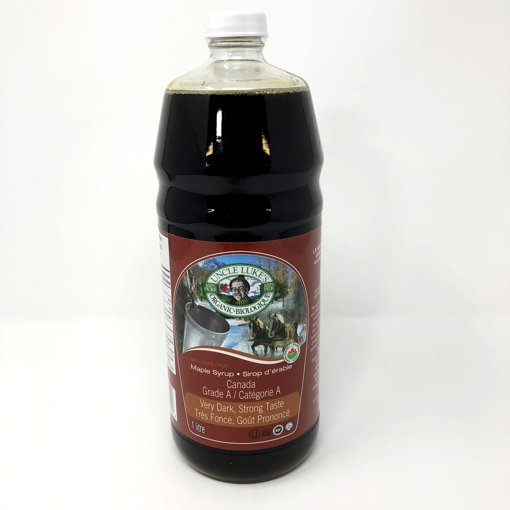 Picture of Organic Maple Syrup Grade A Very Dark Strong Taste - 1 L
