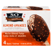 Picture of Almond Non-Dairy Frozen Dessert Bars - Mocha Almond Fudge - 4 x 68 ml