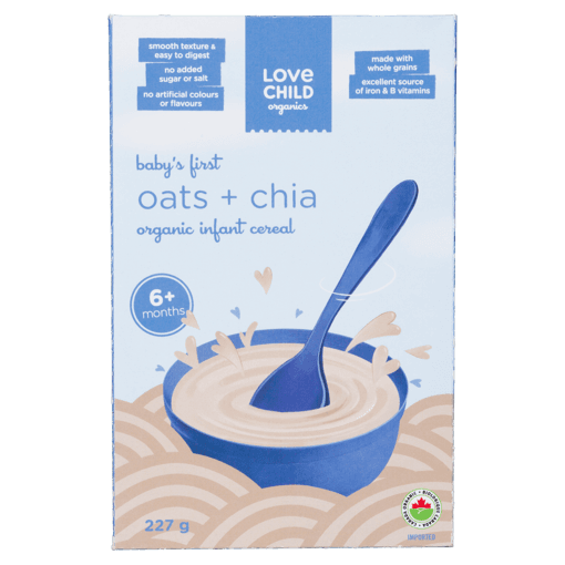 Picture of Organic Infant Cereal - Oats + Chia 6+ months - 227 g