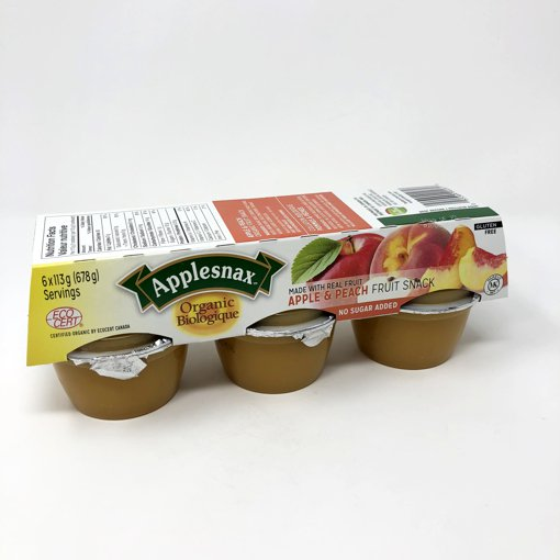 Picture of Applesauce Cups - Apple Peach Sauce - 6 x 113 g