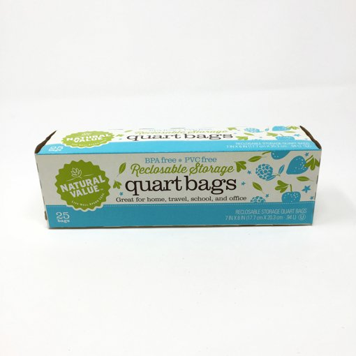 Picture of Reclosable Storage Bags Quart - 25 count