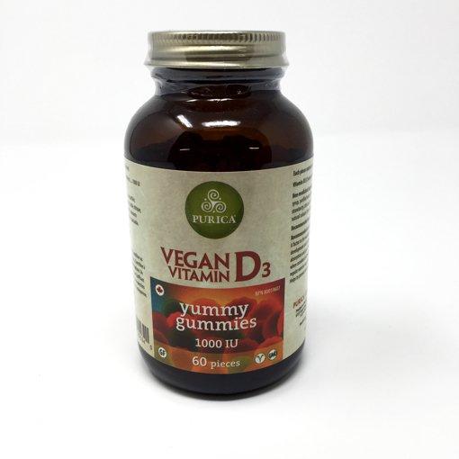 Picture of Vegan Vitamin D3 Yummy Gummies 1000IU - 60 count