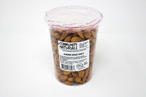 Picture of Raw Whole Almonds - 1 L Container - 530 g