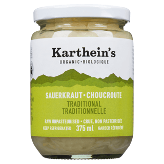 Picture of Raw Unpasteurized Sauerkraut - Traditional - 375 ml