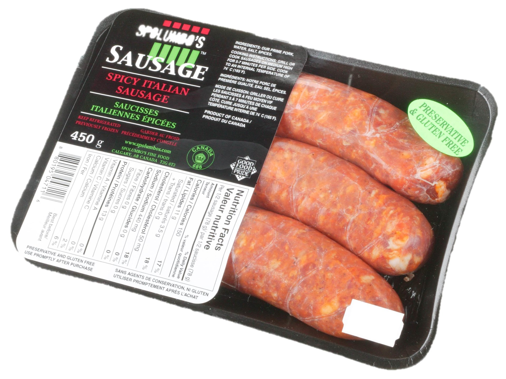 Picture ofSausage - Spicy Italian - 450 g