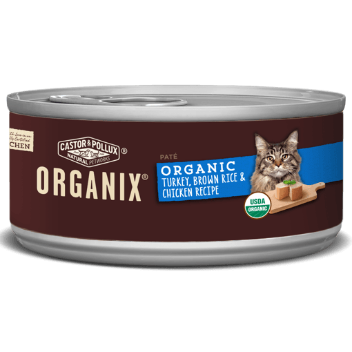 Picture of ORGANIX Canned Cat Food - Turkey, Brown Rice & Chicken Recipe - 156 g