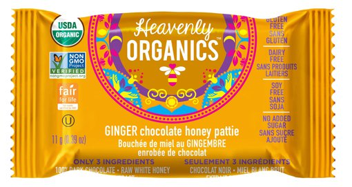 Picture of Chocolate Honey Patties - Ginger - 11 g