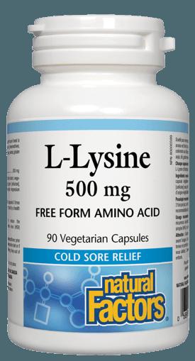 Picture of L-Lysine - 500 mg - 90 veggie capsules