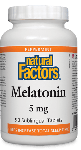 Picture of Melatonin - Peppermint 5 mg - 90 sublingual tablets