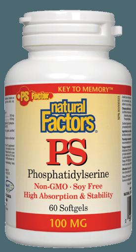 Picture of PS Phosphatidylserine - 100 mg - 60 soft gels