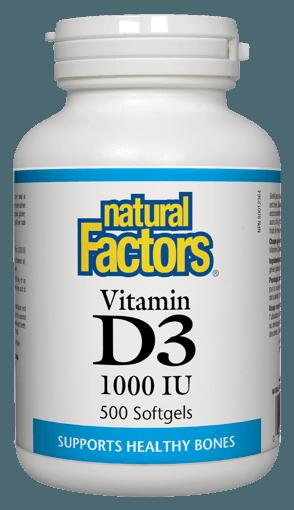 Picture of Vitamin D3 1000IU - 500 soft gels