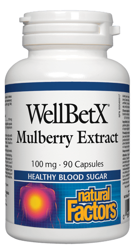 Picture of WellBetX Mulberry Extract - 100 mg - 90 capsules