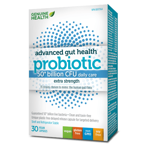 Picture of Advanced Gut Health Probiotic Extra Strength - 50 Billion CFU - 30 veggie capsules