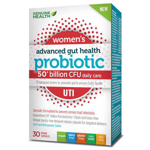 Picture of Advanced Gut Health Probiotic Women's UTI - 50 Billion CFU - 30 veggie capsules