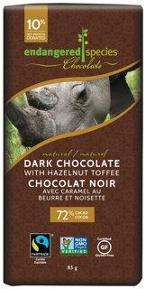 Picture of Chocolate Bar - Dark Chocolate with Hazelnut Toffee - 85 g