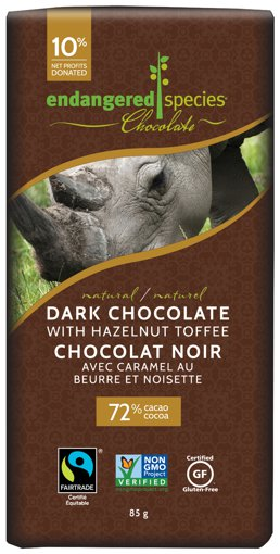 Picture of Chocolate Bar - Dark Chocolate with Hazelnut Toffee - 85 g