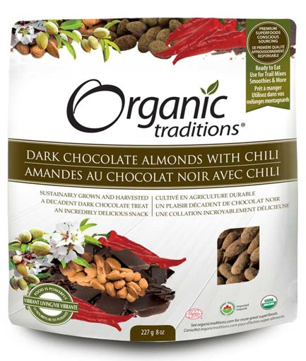 Picture of Dark Chocolate Almonds with Chili - 227 g