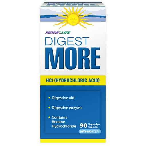 Picture of Digest More HCl (Hydrochloric Acid) - 90 veggie capsules