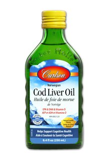 Picture of Wild Norwegian Cod Liver Oil - Lemon 1,100 mg omega-3s - 250 ml