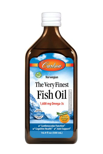 Picture of The Very Finest Fish Oil - Orange 1,600 mg omega-3s - 500 ml