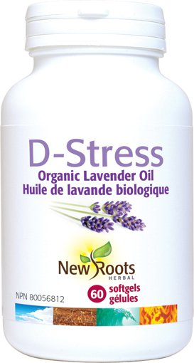 Picture of D-Stress Organic Lavender Oil - 60 soft gels