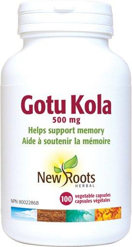 Picture of GotuKola - 500 mg - 100 veggie capsules