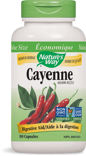 Picture of Cayenne 40,000 HU - 450 mg - 180 capsules