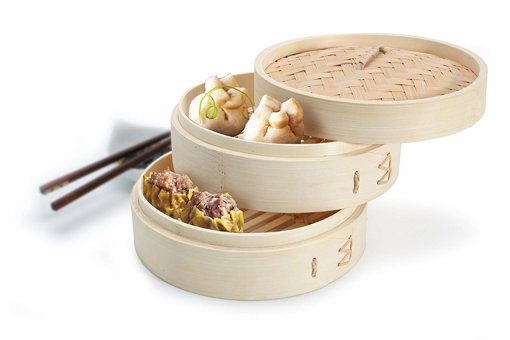 Picture of 2-Tier Bamboo Steamer - 1 each