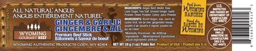 Picture of Ginger & Garlic Premium Angus Beef Stick - 28 g