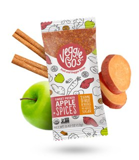 Picture of Fruit and Veggie Strips - Sweet Potato, Apple + Spices - 12 g