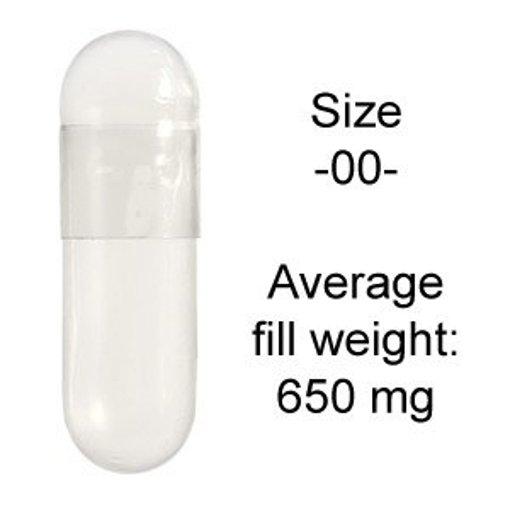 """Picture of Gelatin Caps - """"00"""" - per kg"""