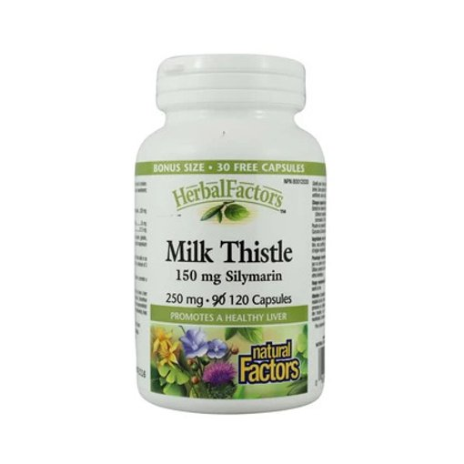 Picture of HerbalFactors Milk Thistle - 250 mg - 120 capsules