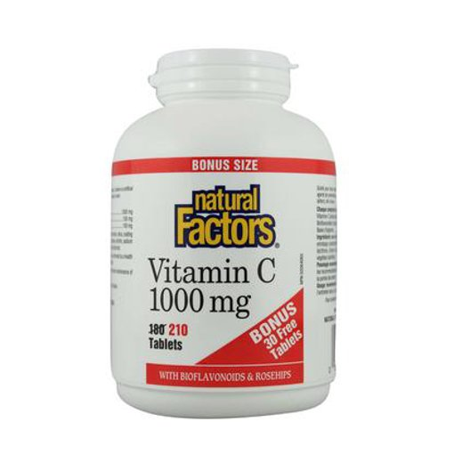 Picture of Vitamin C Plus Bioflavonoids & Rosehips - 1,000 mg - 210 tablets