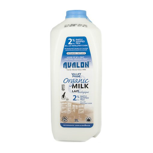 Picture of Organic Milk 2% Partly Skimmed Milk - 2 L