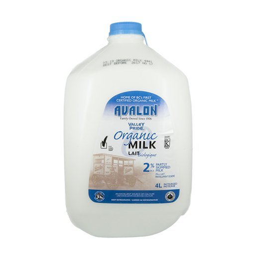 Picture of Organic Milk 2% Partly Skimmed Milk - 4 L
