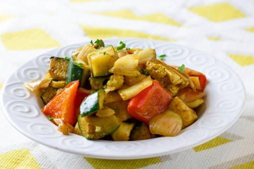 Picture of Indian Spiced Pan Roasted Vegetables