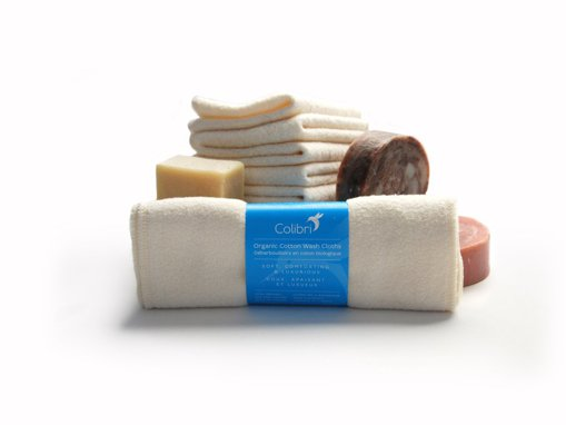 Picture of Organic Cotton Wash Cloths - 5 count