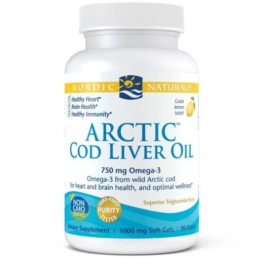 Picture of Arctic Cod Liver Oil - Lemon 750 mg - 90 soft gels